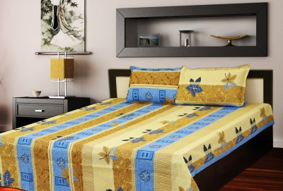 Mee Pra Polycotton Floral Double Bedsheet