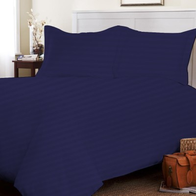 SE Sacro Cotton Striped King sized Double Bedsheet