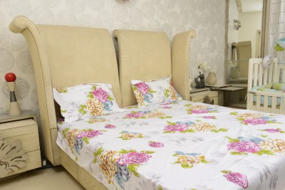 Sassoon Cotton Floral Queen sized Double Bedsheet