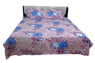 AZ Cotton Floral Double Bedsheet