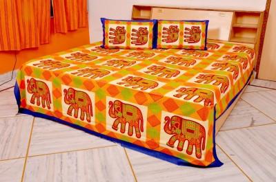 Jaipur Bazaar Cotton Abstract Queen sized Double Bedsheet