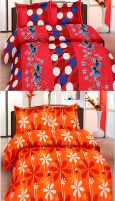 Koncepts Cotton Floral Double Bedsheet