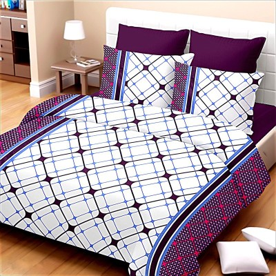 Urbano Homz Cotton Checkered Double Bedsheet