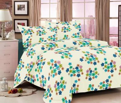 Double A Creation Cotton Floral Double Bedsheet