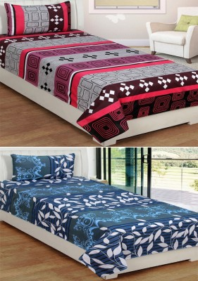 IndianOnlineMall Cotton Printed Single Bedsheet