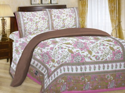Fabutex Cotton Floral Double Bedsheet