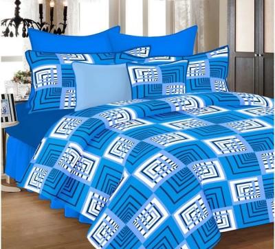 Unique Cotton Geometric Double Bedsheet