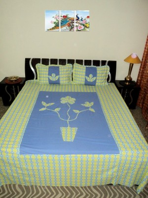 Amita Home Furnishing Cotton Floral Queen sized Double Bedsheet