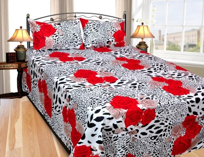 Ridhaan Cotton Floral Double Bedsheet