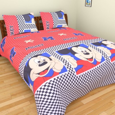 Parkash Fabrications Cotton Cartoon Double Bedsheet
