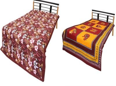 Urban Style Cotton Printed Single Bedsheet