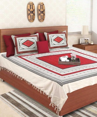 VarEesha Cotton Abstract Double Bedsheet
