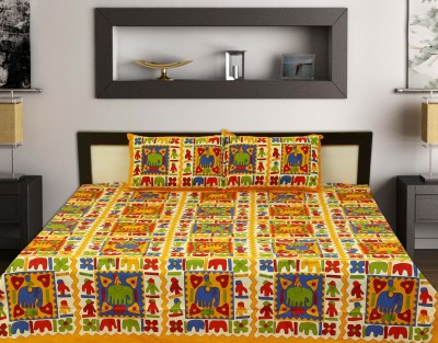 cotton Cotton Text Print King sized Double Bedsheet