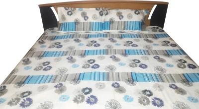 Aashri Cotton Floral Double Bedsheet