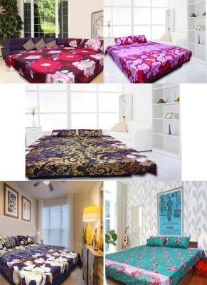 Ambitione Cotton Floral Double Bedsheet