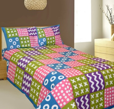 AJ Home Cotton Abstract Double Bedsheet