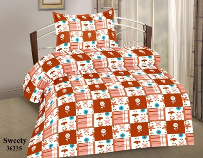 Phunk International Cotton Printed Single Bedsheet