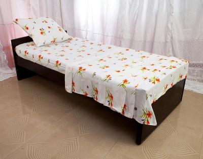Tangia Flower Power Orange Cotton Bedding Set