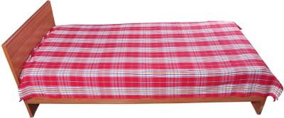 Chennimalai Cotton Checkered Single Bedsheet
