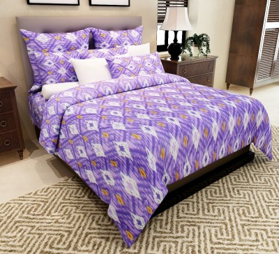 Amethyst Cotton Abstract Double Bedsheet