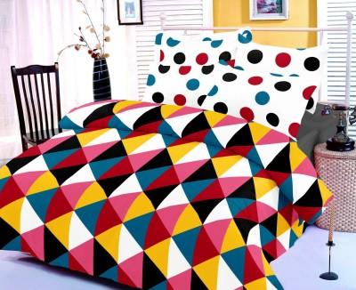 Satcap Cotton Geometric Double Bedsheet