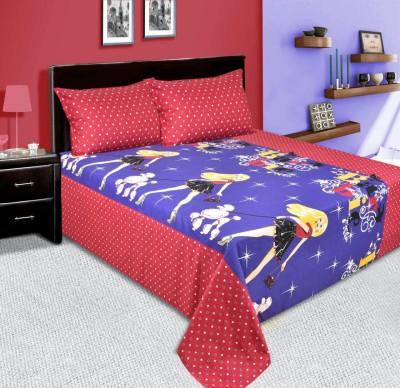 mahirfurnishings Cotton Cartoon Double Bedsheet