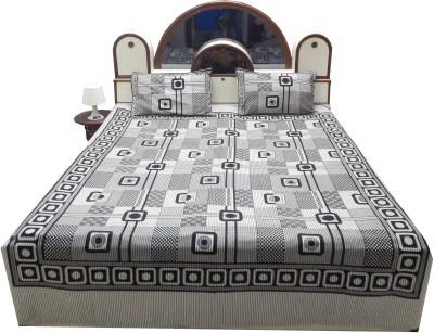 Khandelwaal Cotton Printed Double Bedsheet
