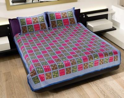 Pratha Cotton Geometric Double Bedsheet