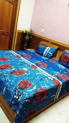 divine creations Cotton Floral Double Bedsheet