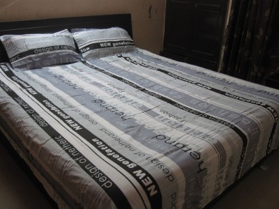 AyushFabrics Cotton Abstract Double Bedsheet