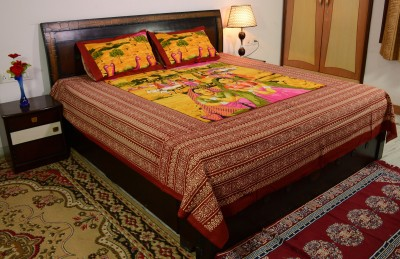 Prabha Creation Cotton Printed Double Bedsheet