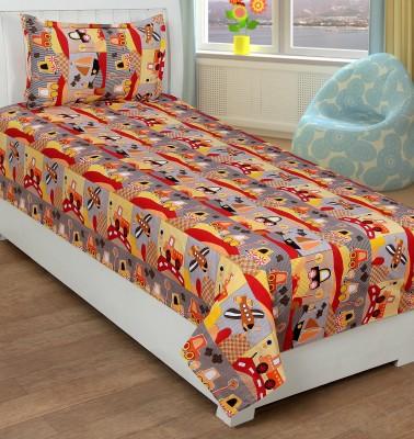 Trendz Home Furnishing Cotton Printed Single Bedsheet