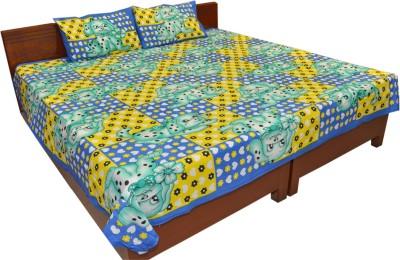 Factorywala Cotton Cartoon King sized Double Bedsheet