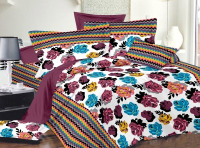 Himalaya International Cotton Floral Double Bedsheet