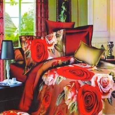 Shree Creations Polycotton Floral Double Bedsheet