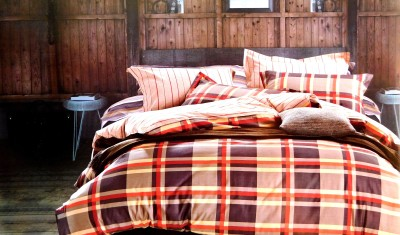 Indiano Cotton Checkered King sized Double Bedsheet