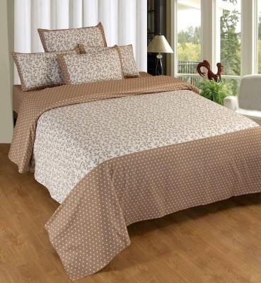 Decor Vatika Cotton Abstract Double Bedsheet