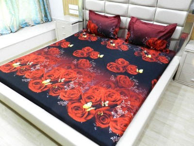 Gama Amor Cotton Floral King sized Double Bedsheet
