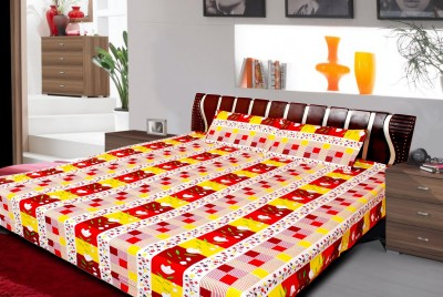 vinaayak Cotton Striped Double Bedsheet