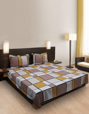 Home Stylerz Cotton Checkered Double Bedsheet