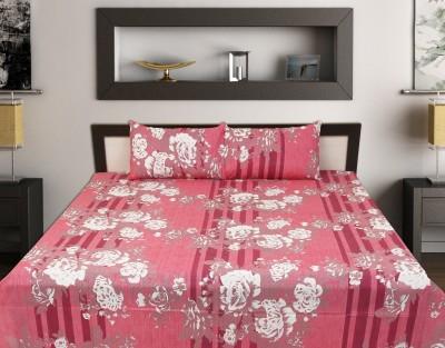 jaipurprintex Cotton Floral King sized Double Bedsheet
