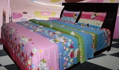 satviham Polycotton Printed Double Bedsheet
