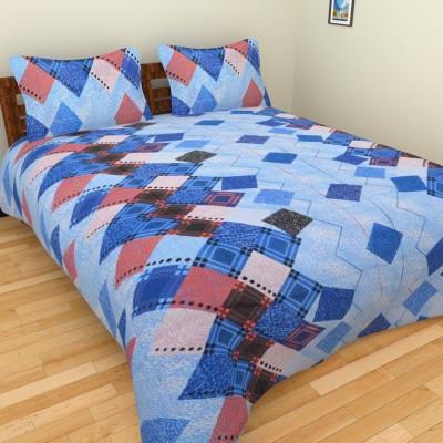 BSB Trendz Cotton Checkered Double Bedsheet