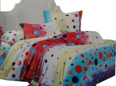 Shreem 2015 Polycotton Polka Double Bedsheet