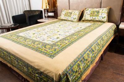 HandiCave Cotton Floral Double Bedsheet