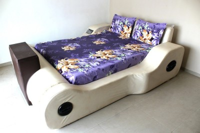 Prc net Polycotton Floral King sized Double Bedsheet