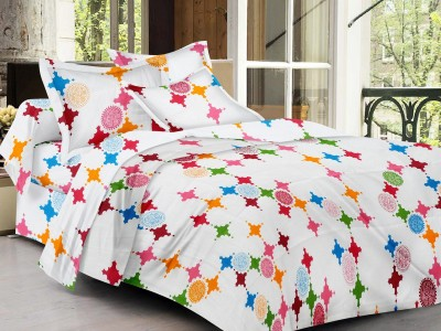 LISSOME Cotton Abstract King sized Double Bedsheet