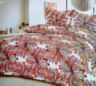 TJAR Polyester Floral Double Bedsheet