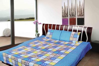 vinaayak Cotton Checkered Double Bedsheet