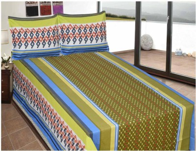 Luk Luck Port Cotton Abstract Double Bedsheet